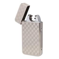 Creative Lighter USB Charging Double Arc lighter Slim Windproof cigarette cigar Lighter Personality Electronics usb novelty smoking Lighter