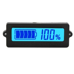 Blue Backlight Indicator DC 12V/24V/36V/48V Battery Capacity Monitor Meter Waterproof LCD Digital Tester for Car/Motorcycle/Golf Cart