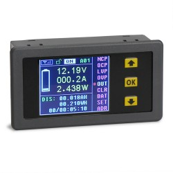 Wireless Monitor Meter Color Multimeter 120V/100A Voltage/Current/Power/charge and discharge capacity/watt/time Display Tester
