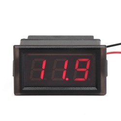 Digital Meter DC 3.3~30V Voltmeter Waterproof Red Led Display Voltage Meter DC12V 24V Digital Tester for Electro car Motorcycle