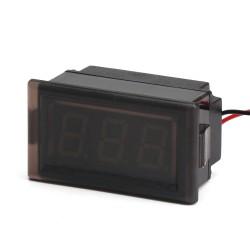 DC 12V 24V Voltage Tester DC3.3 ~ 30V Red/green LED Display Digital Voltmeter Waterproof Volt Panel Meter