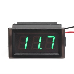 Digital Meter DC 3.5~150V Greed Led Display Digital Voltmeter DC 12V 24V Voltage Tester Waterproof Volt Monitor Meter for Electro car Motorcycle