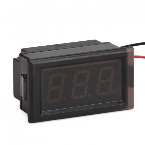 Digital Meter DC 3.5~150V Greed Led Display Digital Voltmeter DC 12V 24V Voltage Tester Waterproof Volt Monitor Meter for Electro car Motorcycle