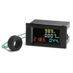 Digital Tester 4in1 AC Voltmeter/Ammeter/Power Meter/Energy Meter Multifunction Monitor Panel Meter/Digital  Multimeter + Current Transformer