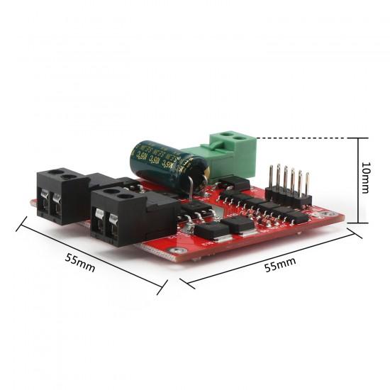 160W 2 Channel DC Motor Driver Module Positive Negative PWM Speed Regulation Optocoupler Isolation Dual H-bridge Motor Controller