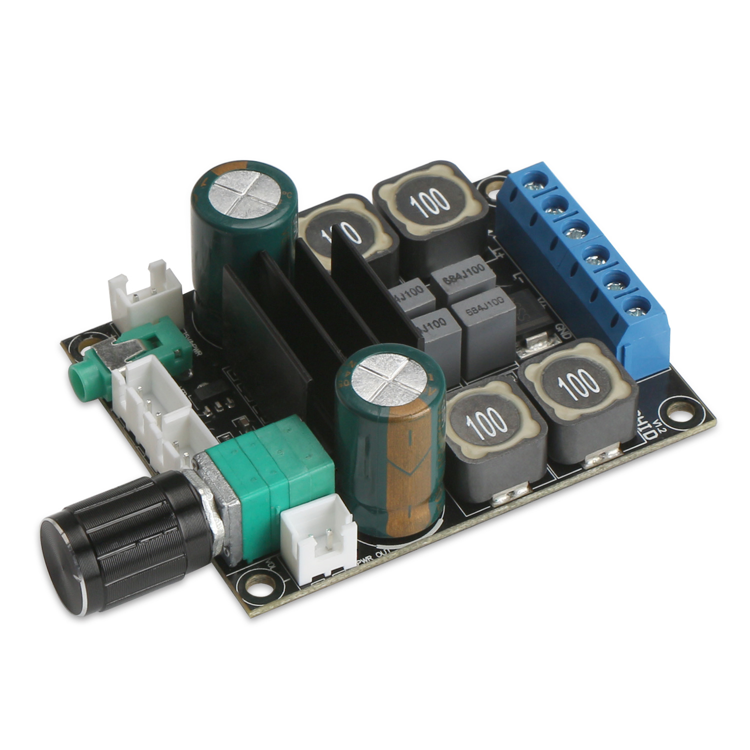 Dc 12v 24v 20 Dual Channel Digital Amplifier Board 50w Hifi Stereo Supply 5v Vcc And To 30v Input Led Driver Application Circuits Audio Tpa3116 Speaker