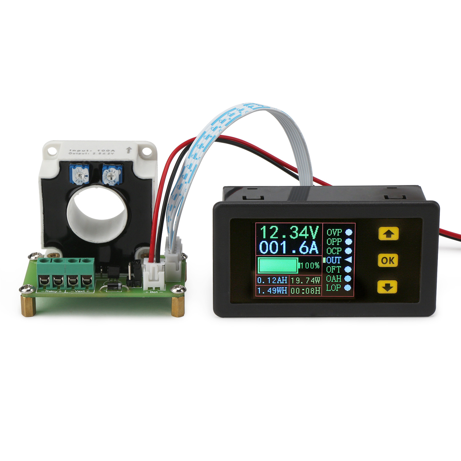Digital Tester Dc 1090 V 100a Multifunction Voltage Current 10 Wiring Diagram Capacity Power Coulometry Time Display