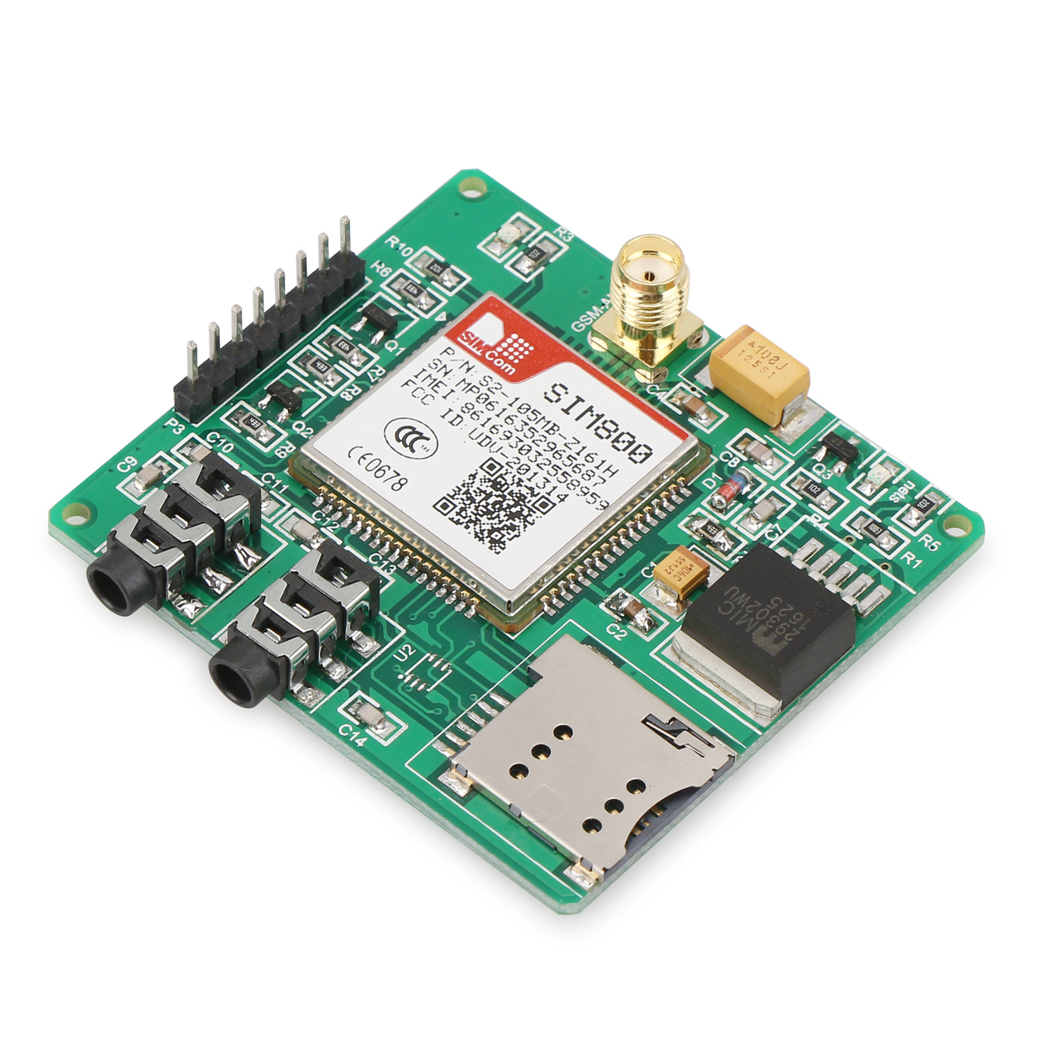 SIM800 Quad-band Add-on Development Board GSM/GPRS/MMS/SMS/STM32 for