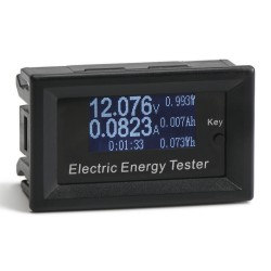 Digital Tester Voltage/Current/Capacity/Energy/Time and Temperature 6in1 Multifunction Monitor Meter Battery Capacity Detector