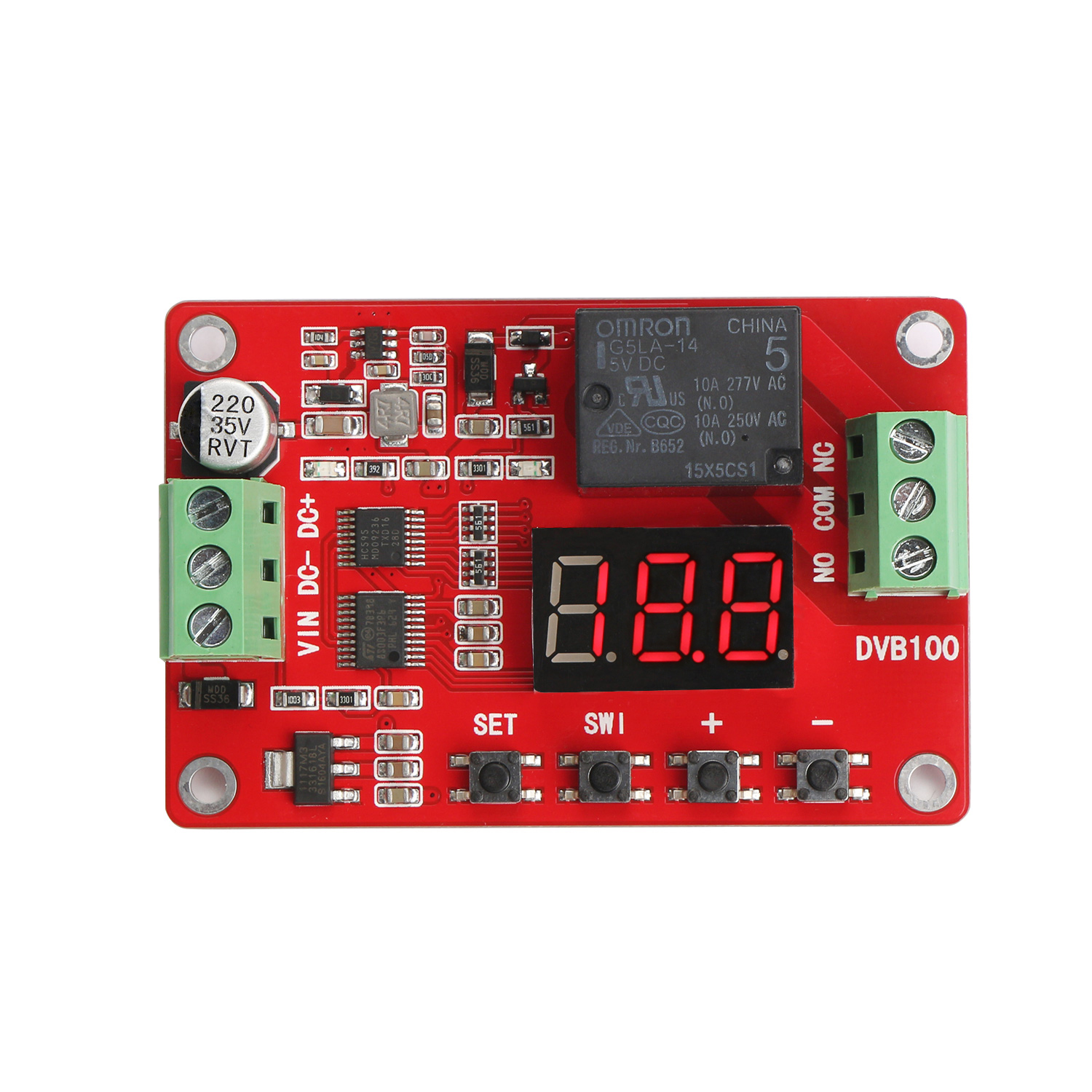 Digital Meter Charge And Discharge Tester Dc 8 28v Control Switch Switching Regulators Using Lm2575 Lm2577