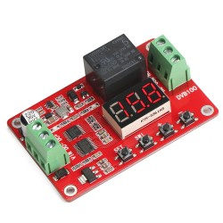 Digital Meter/Charge and Discharge Tester DC 8 ~ 28V Control Switch DC 0~30V/10A, AC 0 ~ 250V/10A Relay Controller