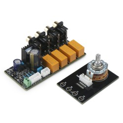 AC 12 ~ 15V Audio Input Signal Selector Relay Board/Signal Switching Amplifier Board/Audio Switching Board + RCA