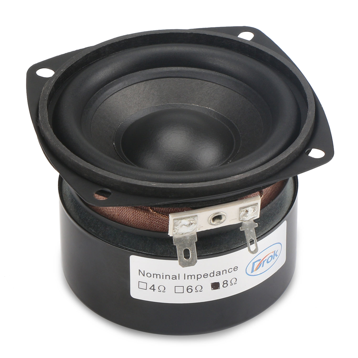 25w Shocking B Speaker 3 Inches 4 Ohms Square Woofer Hi Fi Stereo Loudspeaker Diy