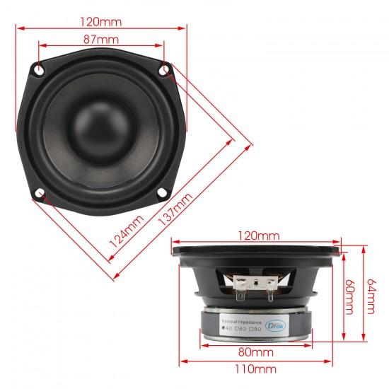 Shocking Bass Speaker 4.5-inch 4 ohms Subwoofer Speaker 40W Hi-Fi Stereo Loudspeaker Woofer Speaker for DIY speakers