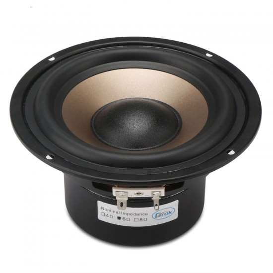 Hi-Fi Subwoofer Speaker Audio Bass Loudspeaker 40W Shocking Bass Speaker 5.25-inch 6 ohms Double magnetic Speaker for DIY speakers