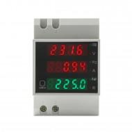 Digital Meter AC 80~300/100A Voltmeter/Ammeter/Power Meter/Energy Meter/Power Factor Meter/Frequency Meter 6in1 Digital Tester