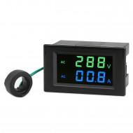 Tester AC80~300V/100A Led Display Voltmeter Ammeter AC 110V 220V Voltage/Current Meter 2in1 Digital Meter + Current Transformer