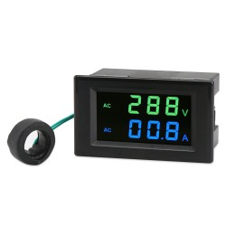 Tester AC130~500V/200A Led Display Voltmeter Ammeter AC 110V 220V Voltage/Current Meter 2in1 Digital Meter + Current Transformer