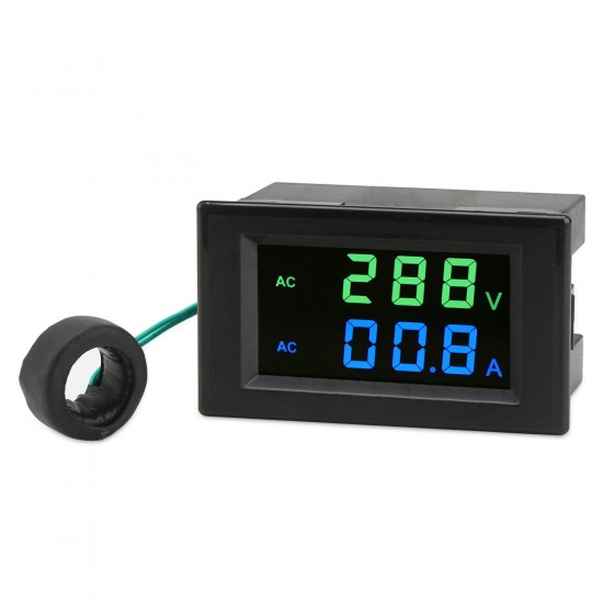 Tester AC80~300V/100A Led Display Voltmeter Ammeter AC 110V 220V Voltage/Current Meter 2in1 Digital Meter + Current Transformer