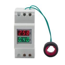 Digital Tester AC 80.0~300V/100A Voltmeter Ammeter 2in1 Panel Meter AC 110V 220V Voltage Current Meter