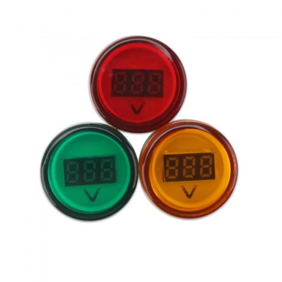 3 PCS/LOT Digital Meter /Volt Monitor Panel Meter AC 60~600V Voltmeter AC 110V 220V Volt Meter Led Display Voltage Meter/Tester