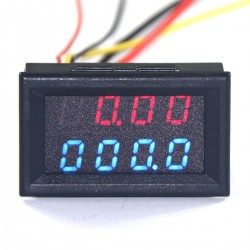"0.28""High Accuracy DC 0-33.00V/0-999.9mA-3.000A 12V Voltmeter Ammeter Voltage Current Tester Monitor Panel Gauge"