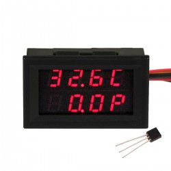 -55℃-110℃/99.9W/33V/3A Thermometer Voltmeter Ammeter LED Dual Display