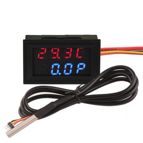 -55℃-110℃/99.9W/33V/3A Thermometer Voltmeter Ammeter Red+Blue LED Dual Display
