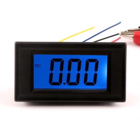 DC 0-20mA Blue Digital display  LCD Panel Ammeter/ amp Ampere Meter