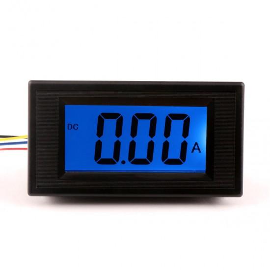 DC  Blue Digital display  DC 0-10A  LCD Panel Ammeter/ amp Ampere Meter DC 8 ~ 12V Powered