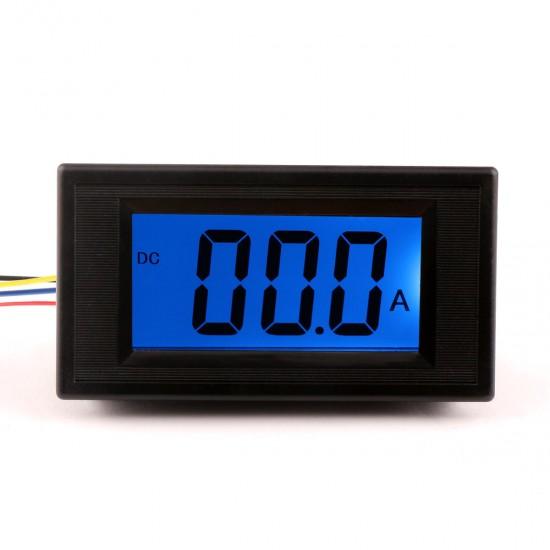DC 0-200A LCD Panel Ammeter/ amp Ampere Meter Blue Digital display