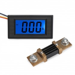 Digital Electrical Ammeter Gauge DC 0-500A Current Panel Meter LCD Monitor DC 8 ~ 12V Powered