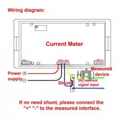 Digital Electrical Ammeter Gauge DC 0-500A Current Panel Meter LCD Monitor DC 8 ~ 12V Powered