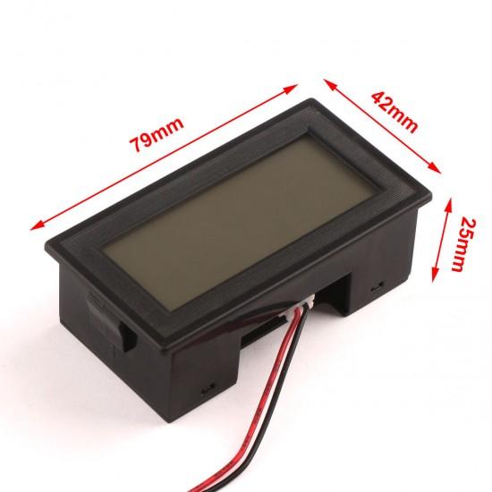DC7-20V Voltmeter LCD Voltage meter volt Panel Meter Blue Digital display two-wire