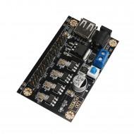 LM7805 DC-DC Multiple Output Linear Power Supply DC 6 ~ 9V to 1.2V/1.8V/2.5V/3.3V/5V 5-Way Buck Voltage Regulator Module with 5V USB Output
