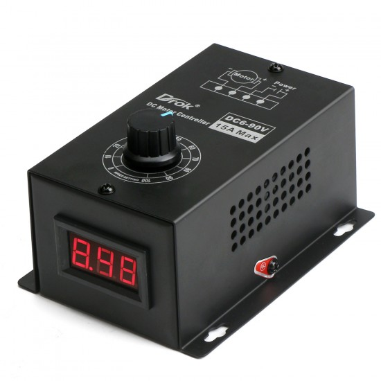 DC Motor Speed Regulator Adjustable DC6V~90V 12V 24V 36V 48V 60V 72V 90V 8A 16kHz Digtal Display Motor Speed Controller/PWM Switching Regulator