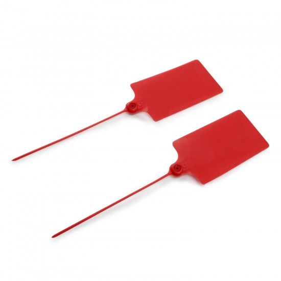 24 PCS/LOT Red Plastic Tags/Sign Cable Tie/ Plastic Cable Tie/ Tag Tied /Mark Tie/57× 100mm Identification Tags with Tagging Fastener