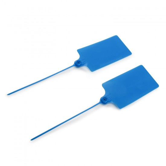 24 PCS/LOT Large Size Plastic Tags Blue Ribbon 57x100mm Double-locked Nylon Labeling Tags Luggage Tags for logistic tag/warehouse sign etc