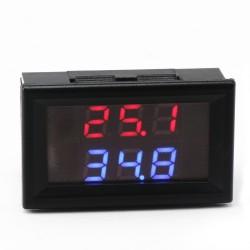DC12V 24V Digital Meter -20~+100 Degrees Celsius Thermometer Dual display Temperature Meter for Car/Water/Air/Indoor/Outdoor etc