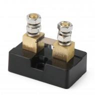 DC Current Shunt DC 20A 100mV Metal Ampere Shunt, Electrical Current Shunt Resistor Kit, Small DC Shunt for Ammeter Current Measurement