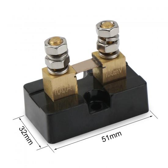 100A 100mV Current Shunt Resistor Anti-Rust Metal Electric Shunt Resistance Resistor Kit for Ammeter Amp Current Tester Gauge