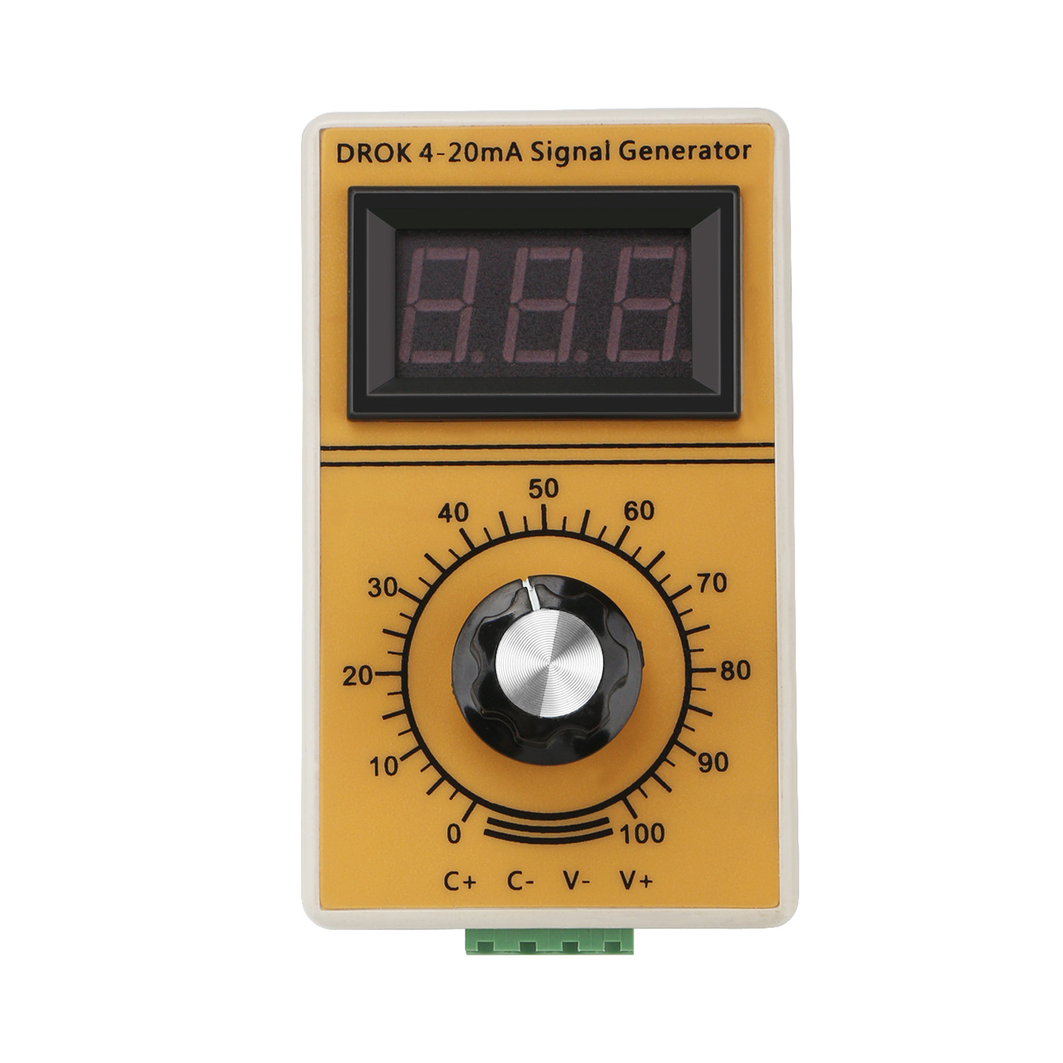 Portable signal generator 4~20mA Constant Current Analog Simulator  Adjusting Module with Led Display for inverter control/PLC etc