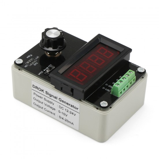 0~20mA Signal Generator Adjustable Current Voltage Analog Simulator for signal sources/valve adjustment/inverter control/PLC