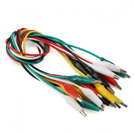 Fengyuanhong 10pcs Alligator Clips Cable Double-ended Alligator Test Leads Wires Jumper Wires