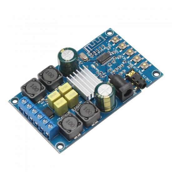 Bluetooth Digital Amplifier Module, Amplifier 50W*2 Dual Channel Audio Amplifier DC 4.5~27V Amplifier Board with Protective Shell