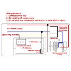 AC 200-450V/100A 380 Volt Digital Current Voltage Tester Meter+Sense Transformer