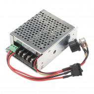PWM DC Motor Driver Controller, DC 10-50V 12V 24V 36V 48V Motor Control Module 40A 2000W with PLC Forward Reverse Regulator Switch Protective Case