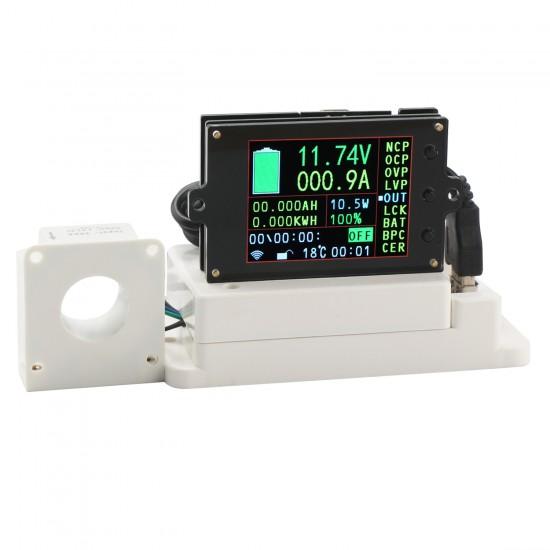 Digital Meter/Multifunction Panel Meter DC 6V~80V/300A/999 KW LCD Display Tester/Monitor Meter/Multimeter/Thermometer