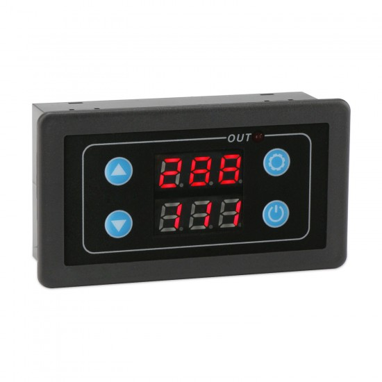 Digital Display Time Relay Timing Delay Cycle Controllor Relay Switch Module for Timing Delaying Cycle timing Intermittent Timing
