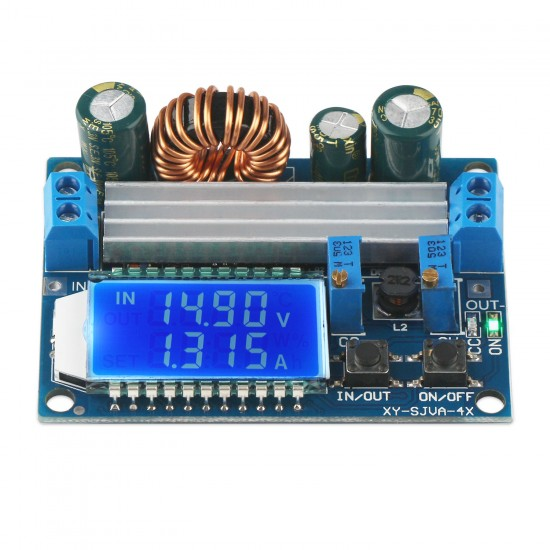 DC 5.5-30V to 0.5-30V LCD Digital Display Buck-Boost Module Voltmeter Ammeter